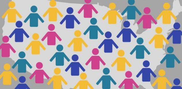 موضوع تعبير عن التعداد السكانى بالعناصر الرئيسية