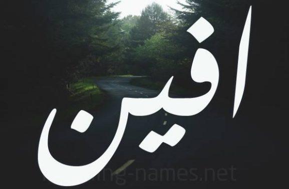 معنى اسم افين وصفاته