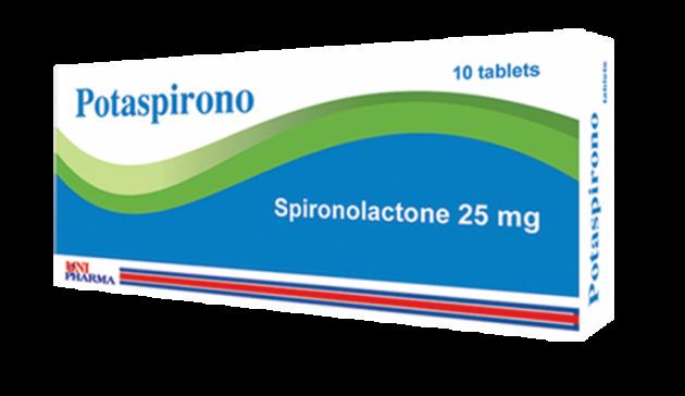 بوتاسبيرونو Potaspirono لعلاج ارتفاع ضغط الدم