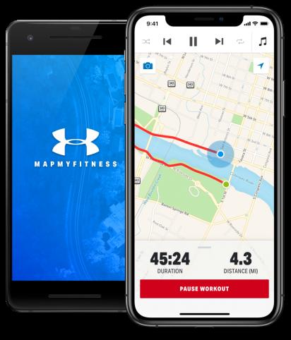 -تطبيق Map My Fitness Workout Trainer