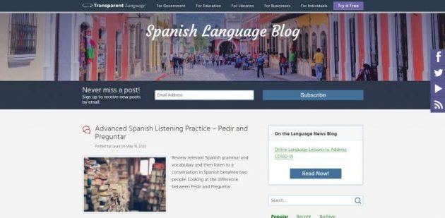 افضل 5 مدونات تعليم اللغة الإسبانية