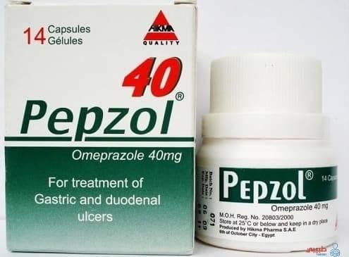 كبسولات بيبزول لعلاج الحموضة وقرحة المعدة Pepzol