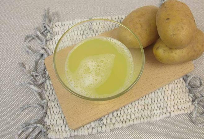 -عصير البطاطس للرقبة الداكنة