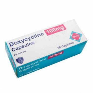 كبسولات دوكسيسايكلين مضاد حيوي للقضاء على البكتيريا