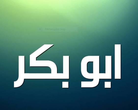 معلومات بسيطة عن اسم أبو بكر