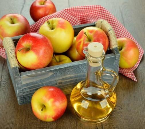 وضع خل التفاح على مناطق التعرق