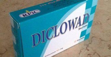 نشرة اكياس ديكلوواد Diclowad مسكن لآلام العظام