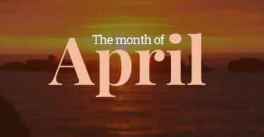 ما هو شهر ابريل