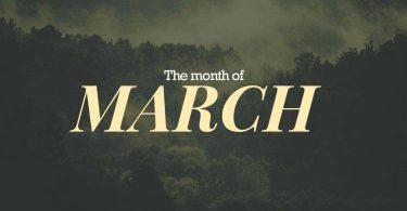 ما هو شهر مارس