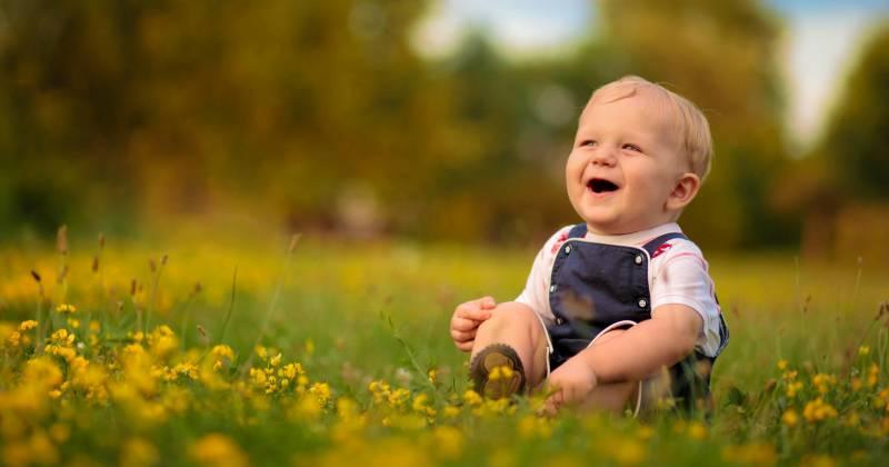 طفل سعيد