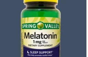 مكمل غذائي حبوب الميلاتونين (melatonin)